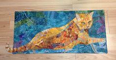 Ginger 8 art quilt cat