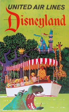 Disneyland 1960---Tyson's grandfather actually drove the Jungle boats--what a fun job!