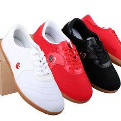 81251885c 2017 New Taichi Shoes WuShu KungFu Tai Ji shoes Sneakers canvas 35-43 EUR  Red