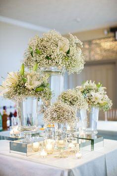 20 Rustic Baby's Breath Wedding Centerpiece Decorations Ideas #weddings #weddingcenterpieces #weddingdecorations