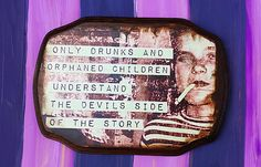 The Devil's Side of The Story Art Decor by MysteriumStore on Etsy
