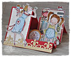 Fab side-stepper card - love the colours