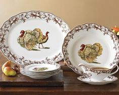 Turkey platter and dishes (not transferware but I like them anyway)