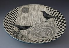 53 best Sgraffito Plates and Platters images on Pinterest ...