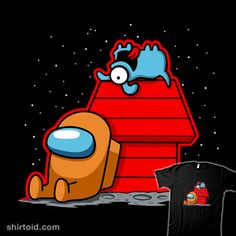 Among Nuts   Shirtoid #amongus #fernandosalasoler #gaming #impostor #peanuts #videogame