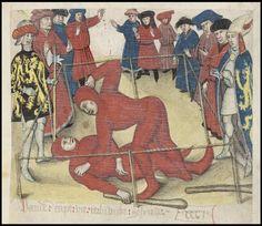 The Brabant Chronicle Brabantsche Yeesten medieval wrestling illustration