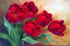 тюльпаны - Схемы вышивки - Vikkki88 - Авторы - Портал «Вышивка крестом»