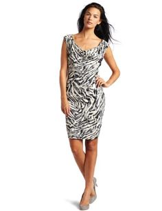 Velvet Women's Khali Printed Cowl Neck Tank Dress « Clothing Impulse