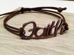 FAITH bracelet by wandandwear on Etsy