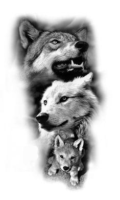 Tribal Arm Tattoos, Wolf Tattoos, Animal Tattoos, Body Art Tattoos, Wolf Tattoo Design, Tattoo Designs, Lord Shiva Sketch, Skull Sketch, Fox Dog