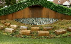 Outdoor classroom | Nicowissing.com I like the wooden cubes as seats