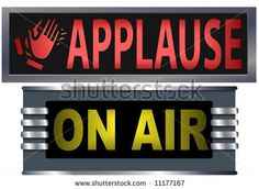 old time radio applause sign - Google Search