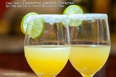 Sweet and strong, even without any rum, this 2 for 1 Pineapple Ginger Cocktail recipe combines a homemade, flavored simple syrup Ginger Cocktails, Ginger Drink, Cocktail Drinks, Cocktail Recipes, Caribbean Drinks, Caribbean Recipes, Caribbean Food, Summer Drinks, Fun Drinks