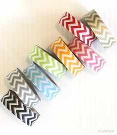 MOD Chevron Washi Tape Scrapbooking Gift Wrapping by PrettyTape, $2.50
