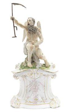 A Nymphenburg figure of Chronos, circa 1765-70