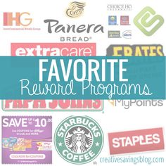 With so many reward programs out there, it's hard to know which ones to try first. This list is Creative Savings approved, and has the best programs to help you start earning quickly!