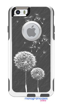 OTTERBOX Commuter Phone Case for iPhone 5/5s, 6/6s, 6 Plus/6s Plus, 5c, 4/4s Samsung s4 s5 s6 Personalized Custom Dandelion Art A2