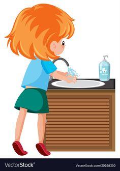 Mopping Floors, Hand Fonts, School Clipart, Kawaii Doodles, Clothing Logo, Baby Hands, Cartoon Characters, Cute Boys, Boy Or Girl