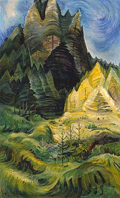 Emily Carr - Reforestation, 1936 oil on canvas