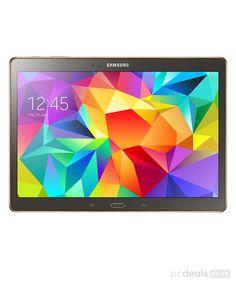 Samsung Galaxy Tab S Pollici cm) Tablet (Processore Octa Core - quad GHz + quad GHz, RAM, Memoria interna espandibile tramite MicroSD, Fotocamera + frontale Wi-Fi, Android Kit Kat) Grigio/Bronzo [Italia]
