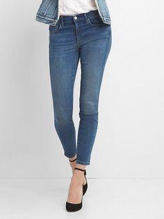 Gap Womens Mid Rise True Skinny Jeans In Medium Indigo Medium Blue How To Wear Sneakers, Shoes With Jeans, Blue Jeans, Gap Jeans, Mens Clothing Styles, Trendy Clothing, Clothing Ideas, Sneakers Fashion, Women's Sneakers