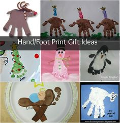 Christmas Crafts: Hand and Foot Print Homemade Gifts