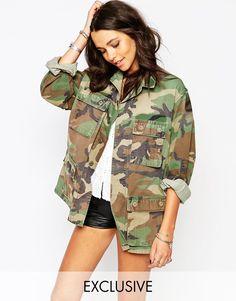 Veste camouflage femme mango
