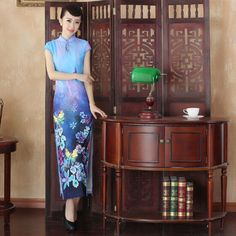long cheongsams qipao dress beautiful dress sexy summer style 2015 luxury