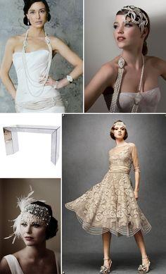Gatsby inspired twenties dress gown lace pearl elegant vintage luxury