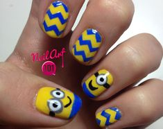 "I shot this minion nails tutorial for Day 3 of the 31 Day Challenge. I don't love the color yellow and wasn't feeling inspired so I googled ""awesome yellow ..."