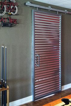 Game Room Corrugated Barn Door by Randy Doering, via Behance