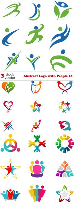 Vectors - Abstract Logo with People 20