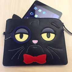 Eye-Spy a Grumpy Cat Don't worry you will be at @Shopbop soon! #MyPURSEonality Mimi Ipad Case by kararossny