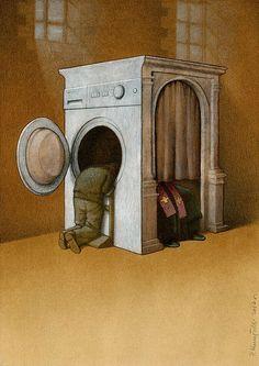 Society Of The Dead: Satirical Illustrations By Pawel Kuczynski