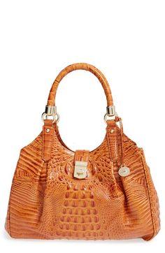 4d43479ffaff Brahmin  Elisa  Croc Embossed Leather Shoulder Bag available at  Nordstrom  Accessorize Hats