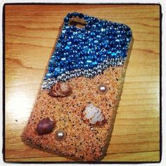Real sand and shells phone case by ChapmansCreations on Etsy