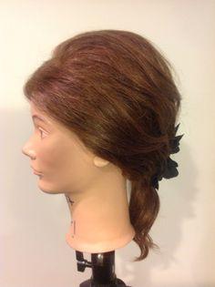 Undone low ponytail side