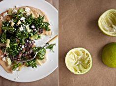 Jalapeno and Lime Marinated Kale Tostada Recipe