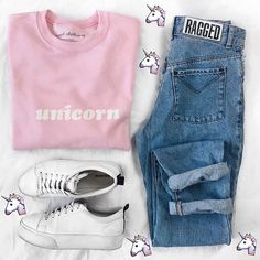"- Description Details: 'Unicorn' oversized sweater in pink. Brand: NYCT Clothing. Unisex/oversized, loose fit. Measurements: (Size Guide) XS/S: 40"" bust, 27"" length, 35"" sleeve length M/L: 44"" bust, 2"