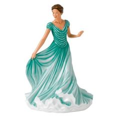 Royal Doulton Pretty Ladies Andrea HN 5719 New In Box MSRP: $ 280.00 BONE CHINA Neil Faulkner's Andrea is is wearing a gossamer emerald green dress over layers of creamy white petticoats. Andrea is po