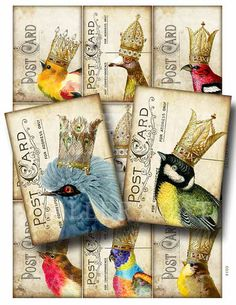 YOUR MAJESTY Digital Collage Sheet Instant Download by GalleryCat, $3.70 (she has great digital art downloads)