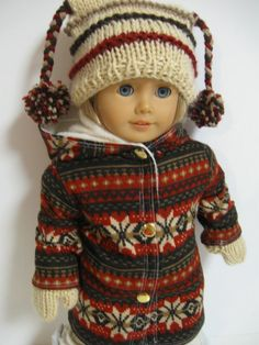 """Its Cold Outside,"" Nordic Coat, Hat & Mittens by 123MULBERRYSTREET via Etsy  $31.00"