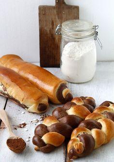 Babette: Fonott kalács ( chocolate & vanilla Braided Bread )