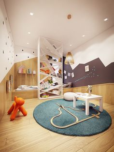 Kids Room Ideas for Kids Bedroom Design and Decoration Family Room Design, Kids Room Design, Modern Family Rooms, Home And Family, Family Homes, Kid Spaces, Boy Room, Home Decor Inspiration, Cool Furniture