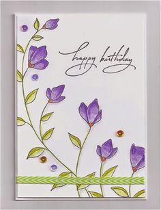 Swanlady Impressions: Softly stamp by Penny Black.