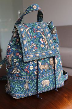 Vera Bradley vintage quilted backpack by FloandKateVintageUK