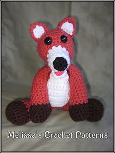 You may recognize Tod from The Fox and the Hound. You can also find my Copper pattern, or them together since they are the best of friends.