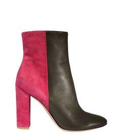 Mary Katrantzou Pink Colorblock Ankle Bootie