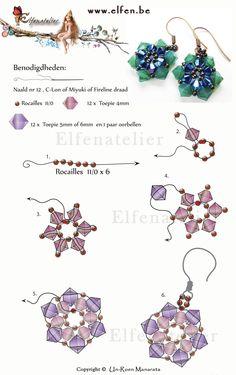 Elfenatelier earrings with swarovski elements.