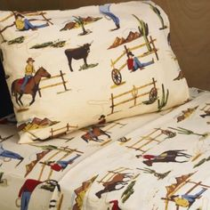 Sweet Jojo Designs Wild West Cowboy Twin Sheet Set In Horse Print Chocolate/multi Kids Sheets, Twin Sheets, Twin Sheet Sets, Cotton Sheet Sets, Cotton Sheets, Cowboy Bedroom, Boys Cowboy Room, Teen Boy Bedding, Western Bedding
